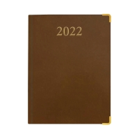 LUXE 97VC DIARY 1W/2P 260X190MM BRW