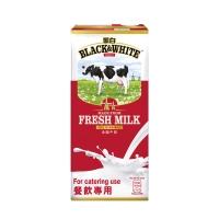 黑白紙包純牛奶1升
