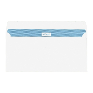 A-Tech Self-Adhesive White Envelope 110 x 220mm - Pack of 25