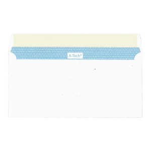 A-Tech Self-Adhesive White Envelope with Window 110 x 220mm - Pack of 20