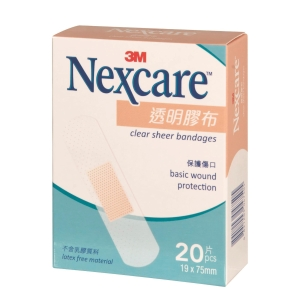 3M Nexcare Clear Bandages - Box of 20
