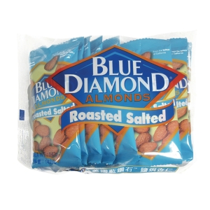 Blue Diamond Roasted Salted Almonds Nuts 14.2g - Pack of 10