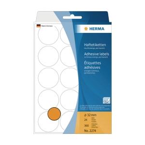 Herma 2274 Round Label 32mm Luminous Orange - Box of 360