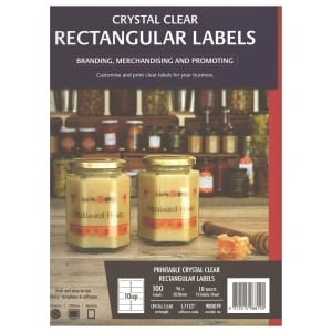 Avery L7113/ 980019 Clear Laser Label 96 x 50.8mm - Pack of 100 Labels