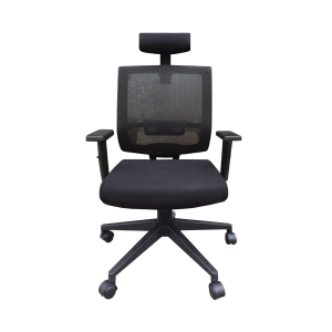 High-back Mesh Chair with Arm Black