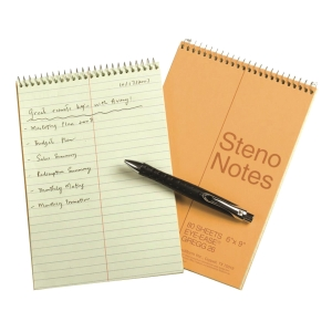 National Steno Notebook Yellow 6 inch x 9 inch - 80 Sheets