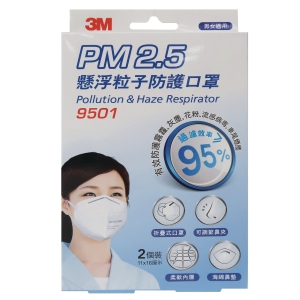 3M PM2.5 Pollution & Haze Respirator - Pack of 2