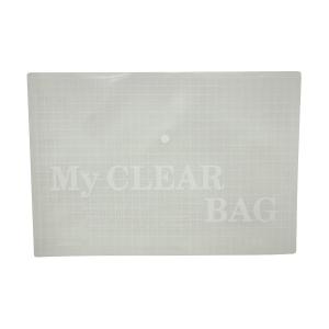 單鈕扣膠公文袋 A4 透明