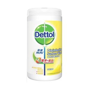 Dettol 滴露 全效潔淨殺菌家居消毒濕紙巾檸檬香味 - 80張裝