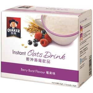 Quaker 桂格 即沖燕麥飲品 莓果味 30克 - 5包裝