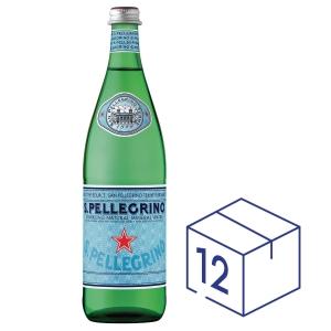 San Pellegrino 聖沛黎洛 玻璃瓶裝有氣礦物水750毫升 - 12支裝