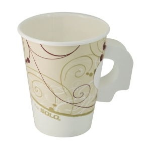 SOLO Paper Cup 8oz with Handle - Pack of 10