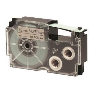 CASIO 卡西歐 XR-12SR1 標籤帶12毫米 x 8米 黑色字銀色底