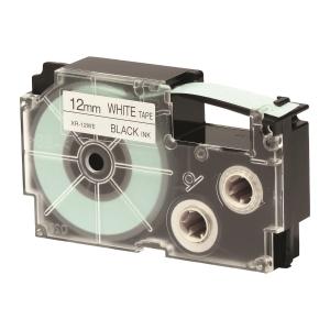 CASIO XR-12WE1 Tape 12mm x 8m Black on White
