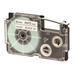 CASIO XR-6WE1 Tape 6mm x 8m Black on White