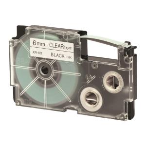 CASIO XR-6X1 Tape 6mm x 8m Black on Clear