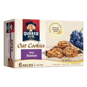 Quaker 桂格 燕麥曲奇餅提子27克 - 6包裝