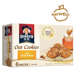 Quaker 桂格 燕麥曲奇餅蜜糖果仁27克 - 6包裝