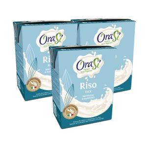 OraSi 歐瑞絲 意大利天然植物奶 頂級米漿200亳升 - 3包装