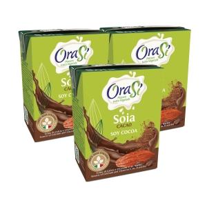 OraSi 歐瑞絲 意大利天然植物奶 頂級朱古力豆奶 200亳升 - 3包装
