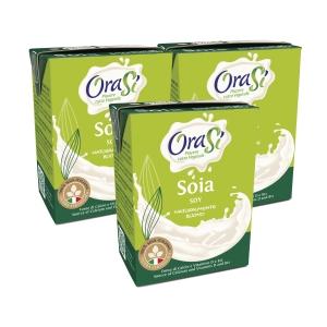 OraSi 歐瑞絲 意大利天然植物奶 頂級豆奶200亳升 - 3包装