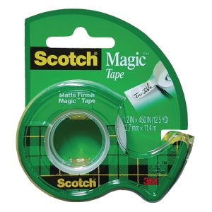 Scotch 104 Magic Tape with Dispenser 0.5 inch x 12.5yd