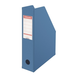 Esselte 易達 可摺疊雜誌架 藍色