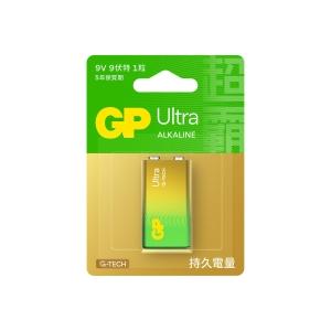 GP Ultra Alkaline Batteries 9V