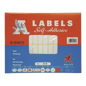 A LABELS 209 白色標籤 13 X 38毫米 每包840個標籤