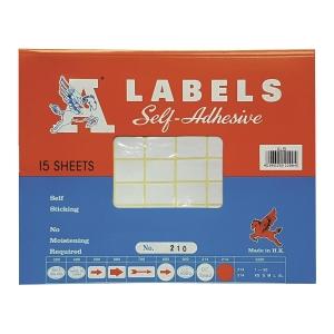 A LABELS 210 白色標籤 16 X 22毫米 每包1080個標籤