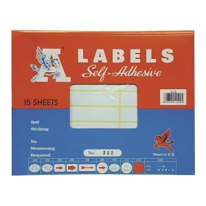 A LABELS 222 白色標籤 17 X 85毫米 每包240個標籤