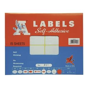 M LABELS 231 白色標籤 76 X 100毫米 每包60個標籤