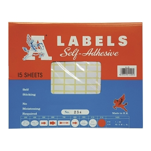 A Labels 234 9 x 16mm - Pack of 2475