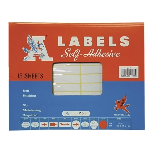A Labels 235 13 x 45mm - Pack of 660