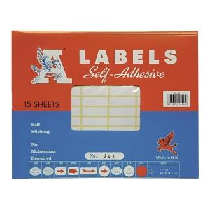 A LABELS 243 白色標籤 10 X 31毫米 每包1170個標籤