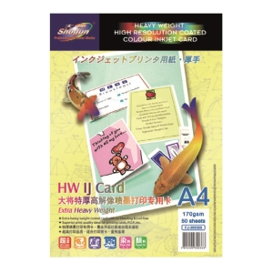 Shogun A4 Inkjet Card 170gsm - Pack of 50