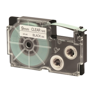 CASIO XR-9X1 Tape 9mm x 8m Black on Clear