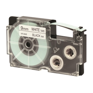 CASIO XR-9WE1 Tape 9mm x 8m Black on White