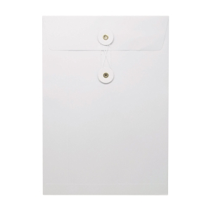 White Envelope with String 7 x 10 inch