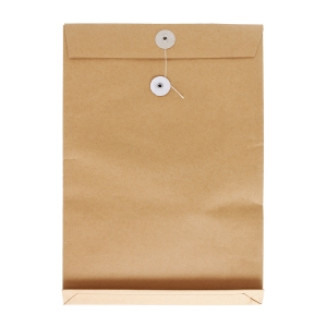 Brown Envelope with String 12 x 16 x 2 inch