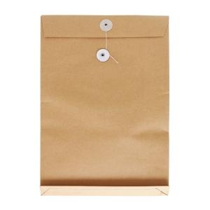 啡色風琴式有繩公文袋 12 吋 x 16 吋 x 2吋