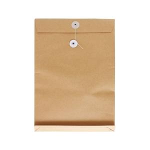 啡色風琴式有繩公文袋 8 吋 x 11 吋 x 1.5吋