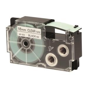 CASIO XR-18X1 Tape 18mm x 8m Black on Clear