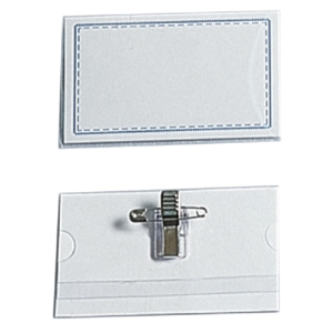 Name Plate with Clip & Pin