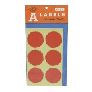 M LABELS 火漆標籤 22 直徑 48毫米 每包24個