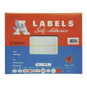A LABELS 203 白色標籤 32 X 64毫米 每包180個標籤