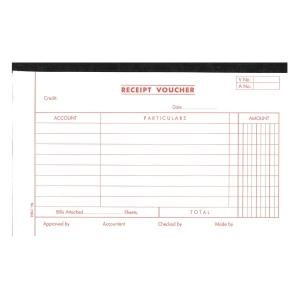 英文傳票 Receipt Voucher 133x210毫米,每疊45張
