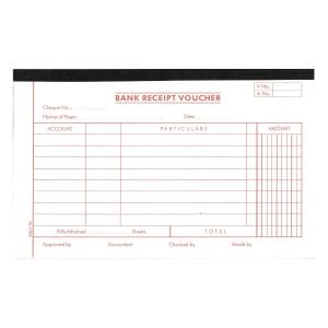 英文傳票Bank Receipt Voucher 133x210毫米,每疊45張