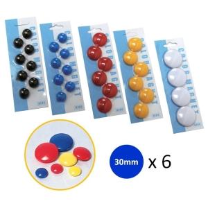 白板珠 藍色 直徑30 毫米 -  6粒裝