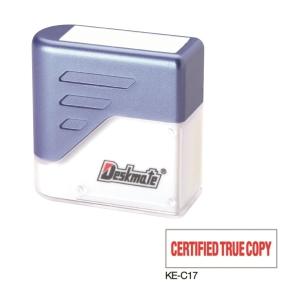 Deskmate 德士美 原子印 KE-C17 [CERTIFIED TRUE COPY] 粗體印章